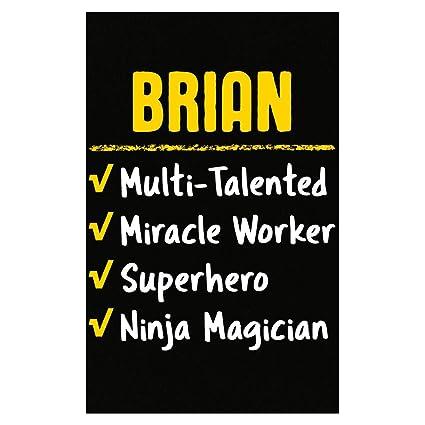 Amazon.com: Brian Talented Superhero Ninja Name Pride Funny ...