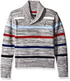 Nautica Boys' Shawl Collar 'Merry Mariner' Striped Sweater With Button Closure