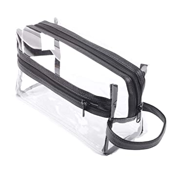d9e96be26bde Heavy Duty Clear Travel Toiletry Makeup Bags Transparent Shaving Bag Water  Resistant Cosmetic Bag...