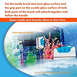 Aquarium Magnetic Glass Cleaner For Fish , Fish Tank Glass Algae Scrubber , Floating Clean Brush