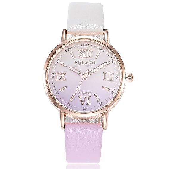 Bestow YOLAKO Reloj de Pulsera de Cuarzo Analš®gico Reloj de Pulsera de  Cuero de Las Mujeres Casual  Amazon.es  Ropa y accesorios 2f28b404329c