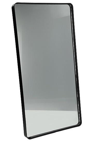 E-line Specchio Rettangolare da Parete Fabric, Bordo in Ferro, cm ...