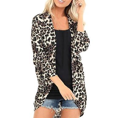 Amlaiworld Mujer Abrigo de algodón de Moda Smock Estampado ...