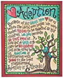 Glory Haus Adoption Canvas Wall Art, 16 by 20-Inch