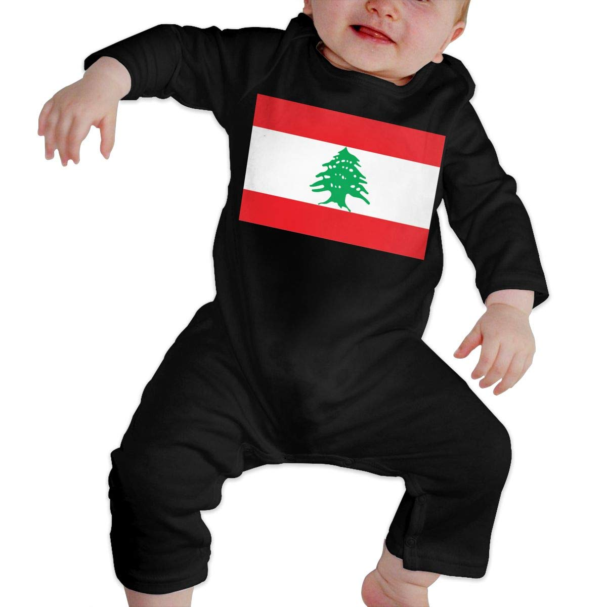 Fasenix Flag of Lebanon Newborn Baby Boy Girl Romper Jumpsuit Long Sleeve Bodysuit Overalls Outfits Clothes