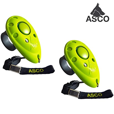 ASCO 2 x Premium Clicker, Dedos Clicker para Clicker Training, Perros Gatos Caballos Profesional