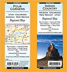 Map Of Arizona Utah And Colorado.Indian Country Four Corners Az Co Nm Ut State Map