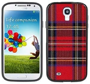 Red Plaid Tartan Handmade Samsung Galaxy S4 Black Bumper Hard Plastic Case