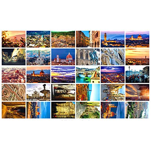 30 PCS 1 Set World's Beautiful/Famous City Postcards, Florence ()