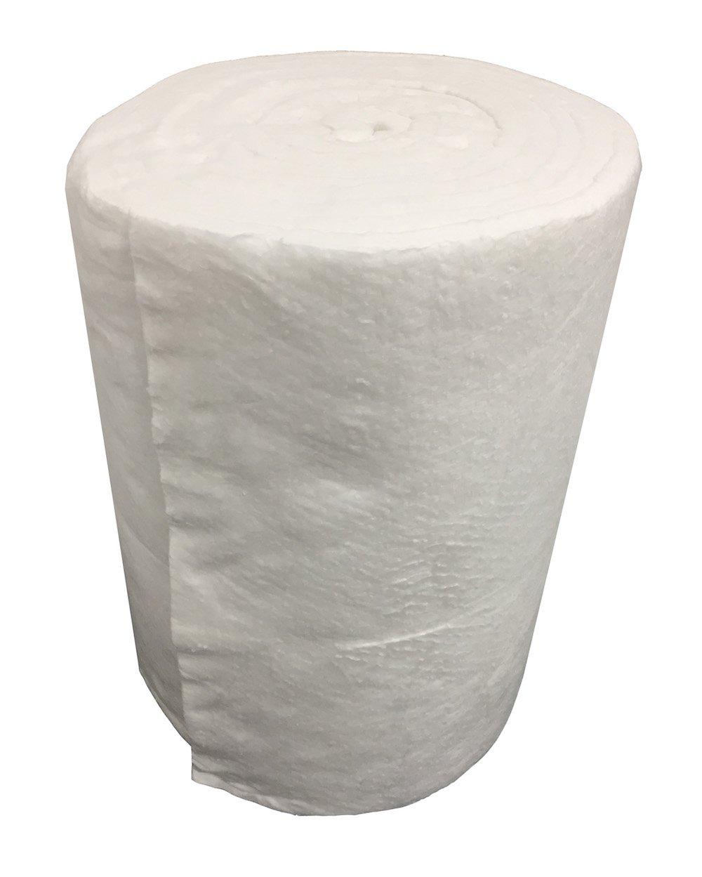 Rollo aislante de fibra de cerá mica, modelo: Eco - Dimensiones del rollo: 7,30 m x 61 cm, grosor: 25 mm, densidad: 64 kg/m3. Einside