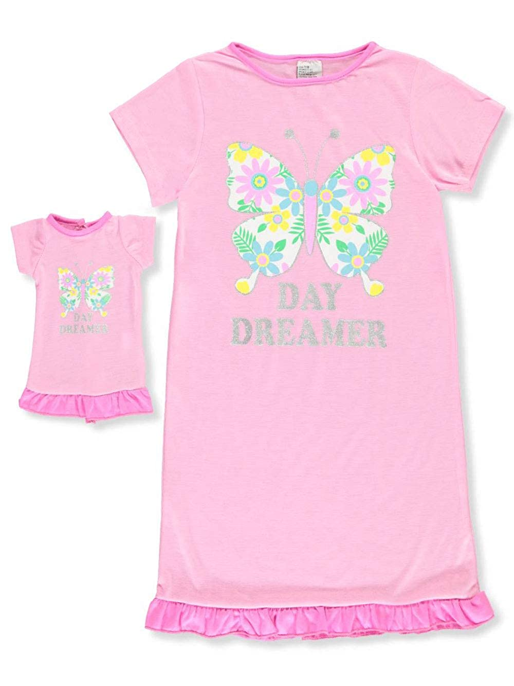 Dollie /& Me Girls Nightgown with Doll Outfit