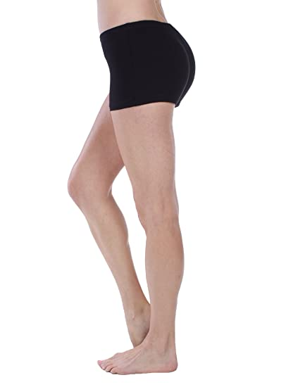 53e485fb55 Emmalise Active Women's Basic Cotton Blend Yoga Workout Dance Shorts ...