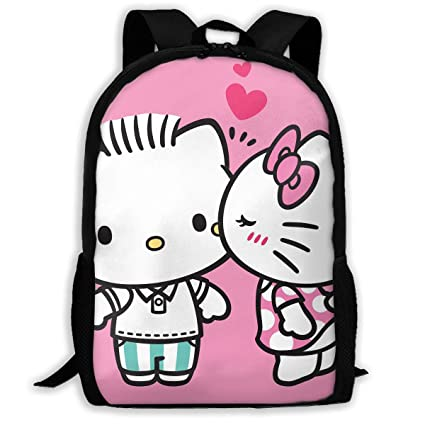 254ce645009a Image Unavailable. Image not available for. Color  LIUYAN Custom Kissing  Hello Kitty Casual Backpack ...