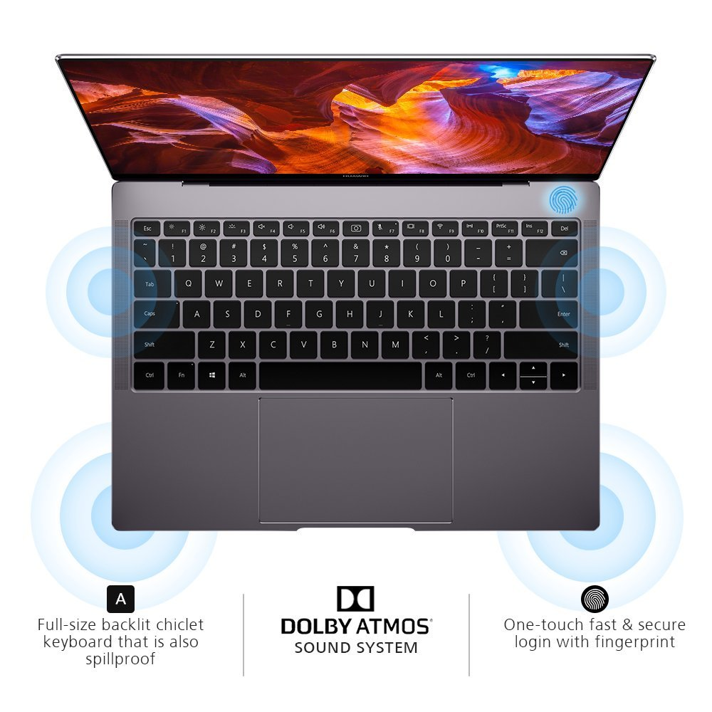 Huawei MateBook X Pro Signature Edition Thin & Light Laptop, 13.9'' 3K Touch, 8th Gen i7-8550U, 16 GB RAM, 512 GB SSD, GeForce MX150, 3:2 Aspect Ratio, Office 365 Personal, Space Gray - Mach-W29C by HUAWEI (Image #3)