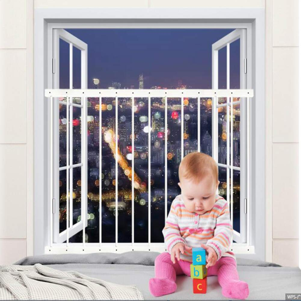 Fairy Baby Child Window Guards for Children Safety Window Gate Security Bars White,Fit 31.8-36.6 Inches Wide