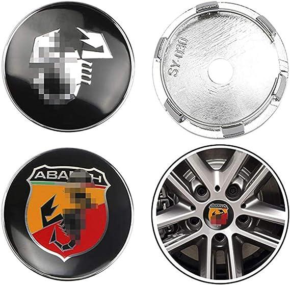 Nadaenta 4x Auto Felgenkappen Nabenkappen Felgendeckel Radnabe Centre Cap Für Fiat Viaggio Punto 124 125 500 Abarth Autodekorationsteile Verwendet Küche Haushalt