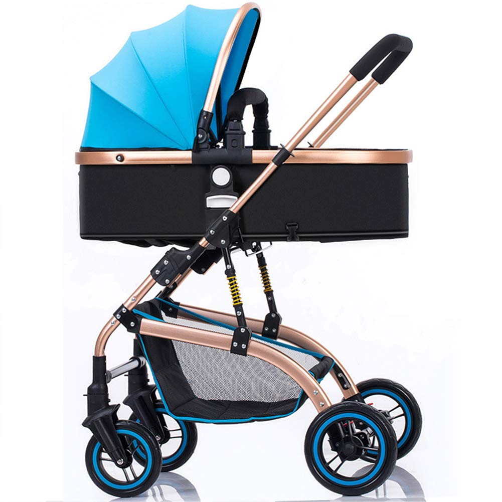 Baby Pram, High Landscape Baby Stroller can sit and Lie Down Two-Way Toddler Pushchair for Babies 0-3 Years Old by WYX-Stroller (Image #5)
