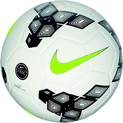Nike Strike Team Balón de Fútbol, Hombre, Blanco/Negro/Verde, 4 ...