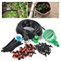 DIY 82FT Micro Drip Irrigation System with Hose Timer Dripper Sprinkler Plant Watering Irrigation Pipe, Irrigation Spray for Flower, Lawn, Patio, Garden Greenhouse Plants