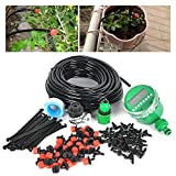 Lawn Irrigation Systems DIY 82FT Micro Drip Irrigation System with Hose Timer Dripper Sprinkler Plant Watering Irrigation Pipe, Irrigation Spray for Flower, Lawn, Patio, Garden Greenhouse Plants