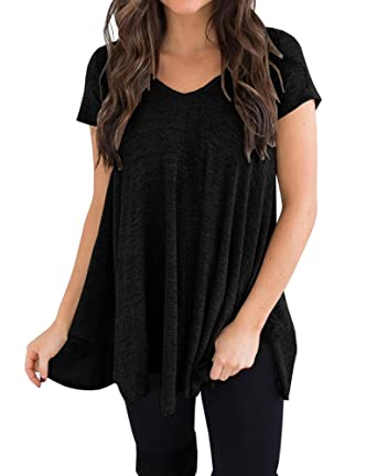 Image result for Remikstyt Womens Swing Loose Fit T-Shirt High Low Casual Flowy Short Sleeve Tunic Tops | The Best Bump-Friendly Amazon Finds featured Alabama blogger My Life Well Loved #maternity #pregnancy