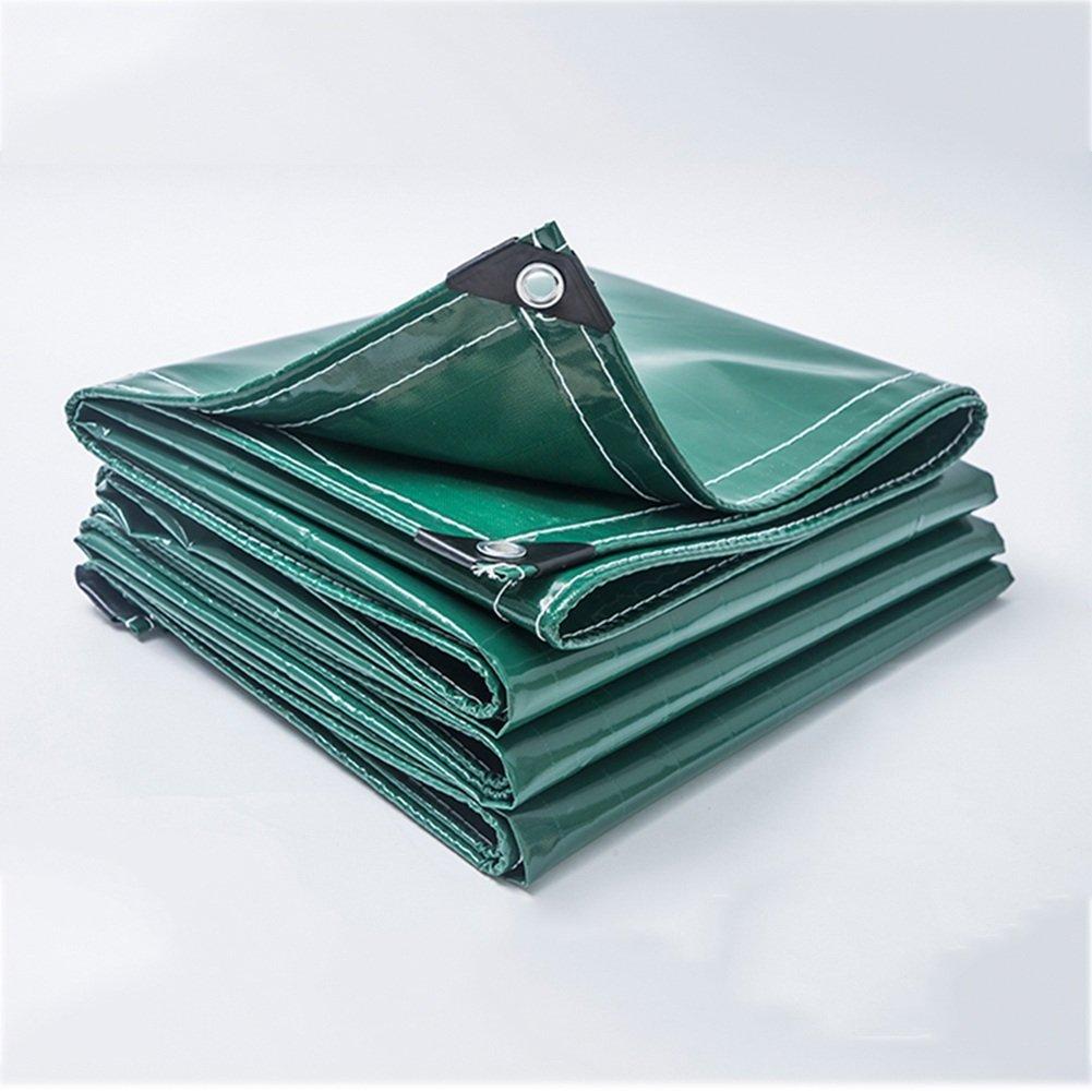 CHAOXIANG オーニング 厚い 両面 防水 耐寒性 シェード 耐摩耗性 耐食性 耐引裂性 防風 防塵の PVC 緑、 500g/m 2、 厚さ 0.45mm、 17サイズ (色 : 緑, サイズ さいず : 2x3m) B07DC59F6N 2x3m|緑 緑 2x3m