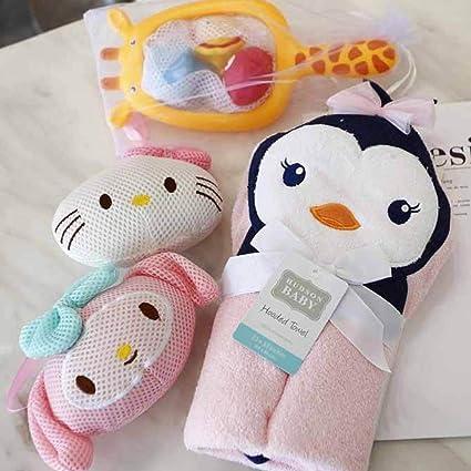 Hemore - Toalla de baño para bebé, con diseño de pingüino para niños, lavable