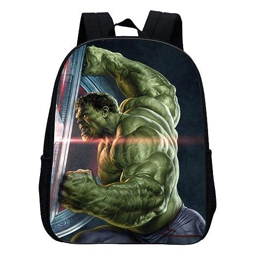KFSER Mochila Escolar para Niños, Hulk/Captain America/Iron ...