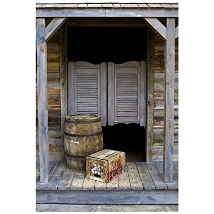 Muzi 5x7ft Photography Backdrop Paper Old Barn Door Photo Background  Western Saloon Doors Customized Studio Props