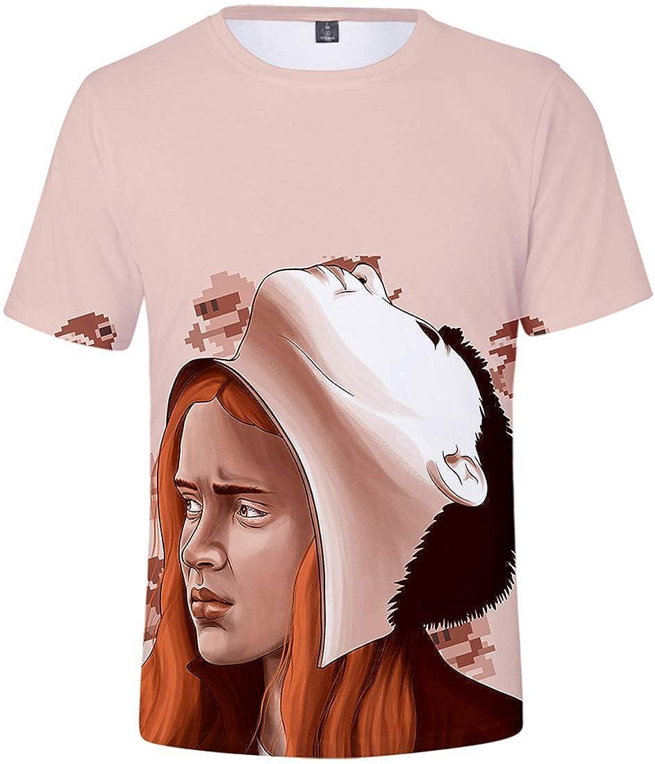 FLYCHEN Maglietta per Ragazzi e Bambini 3D Stampa Figura Stranger Things 3 Stile Girocollo Maglietta Fans Eleven Millie Bobby Brown Gift