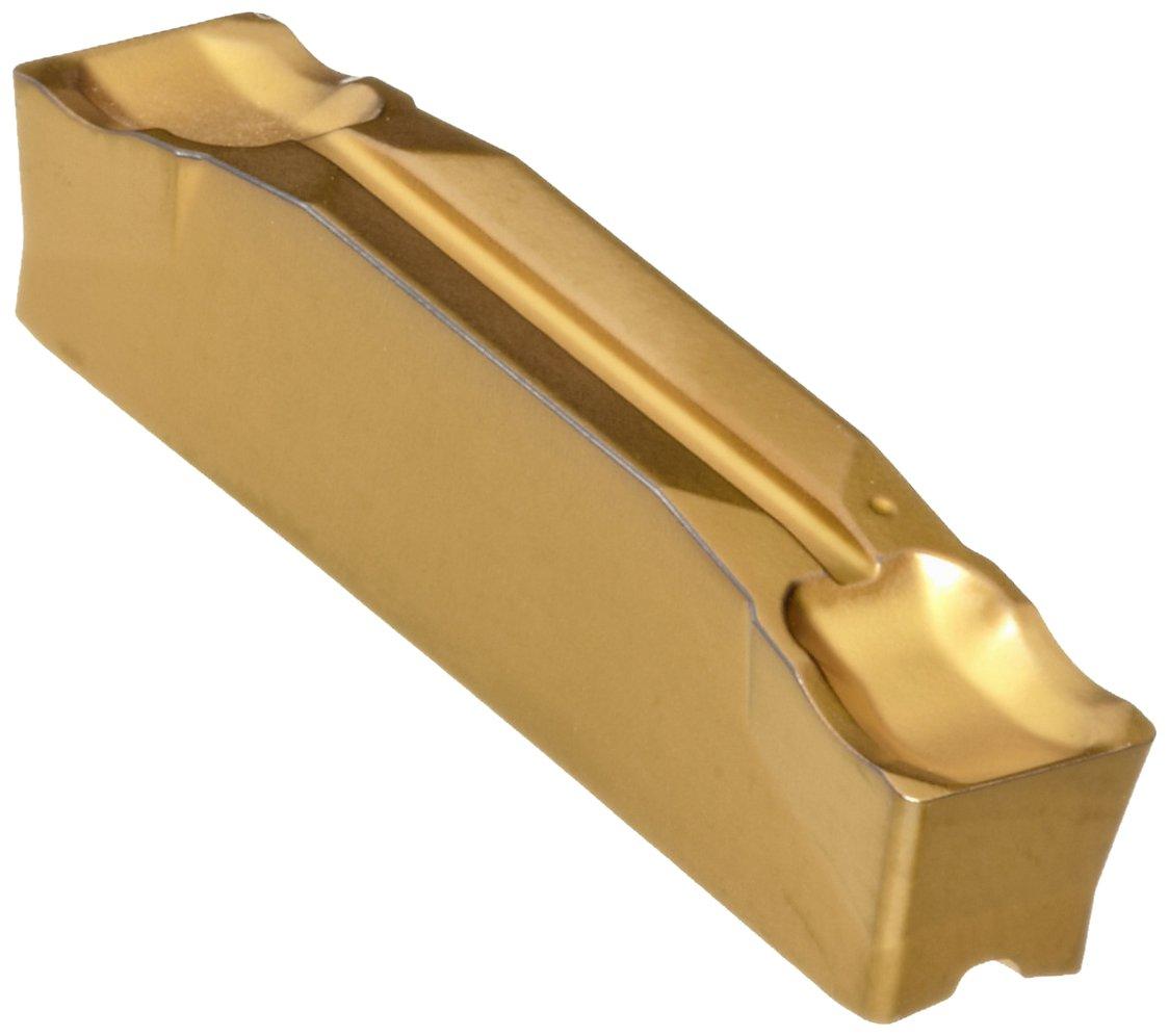 Sandvik Coromant CoroCut 2-Edge Carbide Parting Insert, GC2135 Grade, Multi-Layer Coating, CR Chipbreaker, 2 Cutting Edges, N123H2-0400-0003-CR, 0.0118'' Corner Radius, H Insert Seat Size (Pack of 10) by Sandvik Coromant (Image #1)