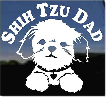 High Quality Adhesive Vinyl Window Decal Sticker Cute Shih Tzu Hear Decal DC1148HRT