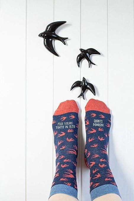 """UO""""puedes Volar Todo Lo Alto que imágenes calcetines, Algodón, Azul, ..."""
