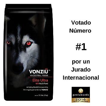 Comida para Perros Vonziu Elite Ultra, 15 kg – Mezcla Natural Seca de Pollo Aceites