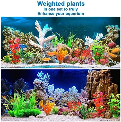 Plantas artificiales para decoraciones para acuarios 7