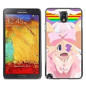 A-type Arte & diseño plástico duro Fundas Cover Cubre Hard Case Cover para Samsung Note 3 N9000 (Mario Príncipes)