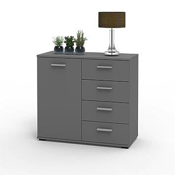 Sideboard Grau caro möbel kommode sideboard schrank chicago in grau mit tür und 4