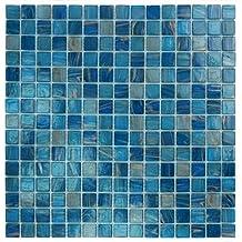 """Blue Copper Glass Tile Blend 3/4"""" x 3/4"""""""
