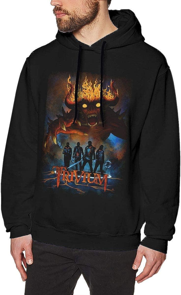 QINQIN Trivium Fashion Mens Hat and Pocketless Sweater Black