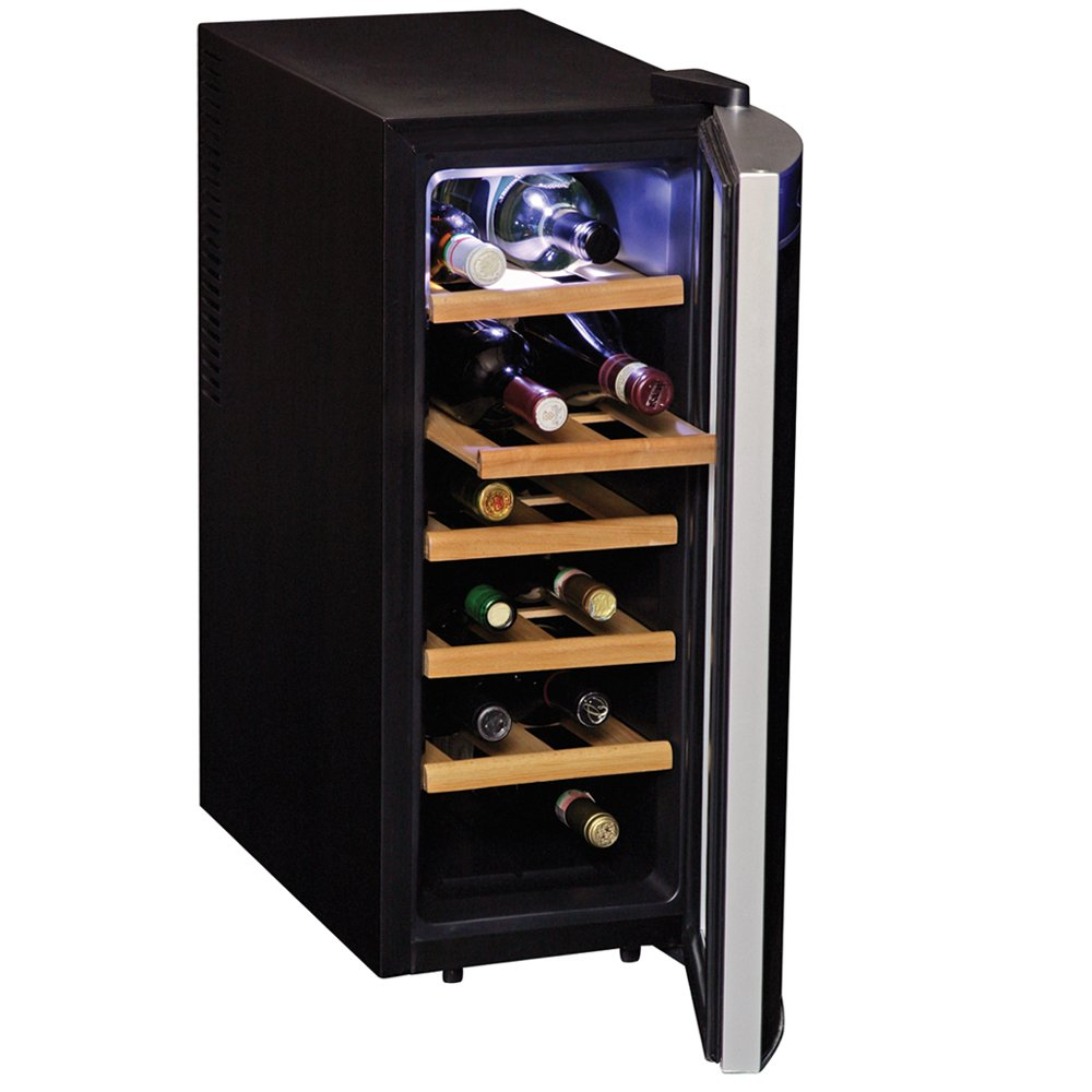 12 Bottle Wine Fridge Part - 38: Amazon.com: Koolatron WC12-35D Black 12 Bottle Deluxe Wine Cellar:  Appliances