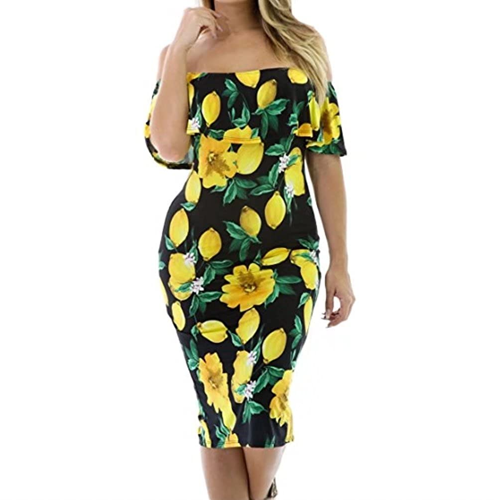 e3c083c873b Flowers Off Shoulder Ruffle Party Sexy Bodycon Dress Material    95%Polyester+5%Spandex
