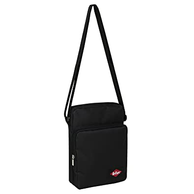 21fc5b86dff6 Lee Cooper Gadget Bag (black) Mens Cross Body Small Zipped Shoulder Bag  Lightweight Organiser