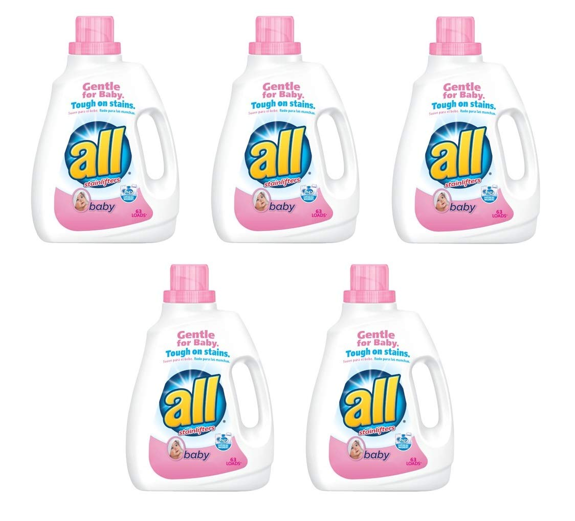 all Liquid Laundry Detergent, Baby - 94.5 oz (Pack of 5)