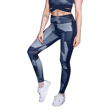 Siswong Pantalones Yoga Camuflaje Leggings Algodon Deporte ...