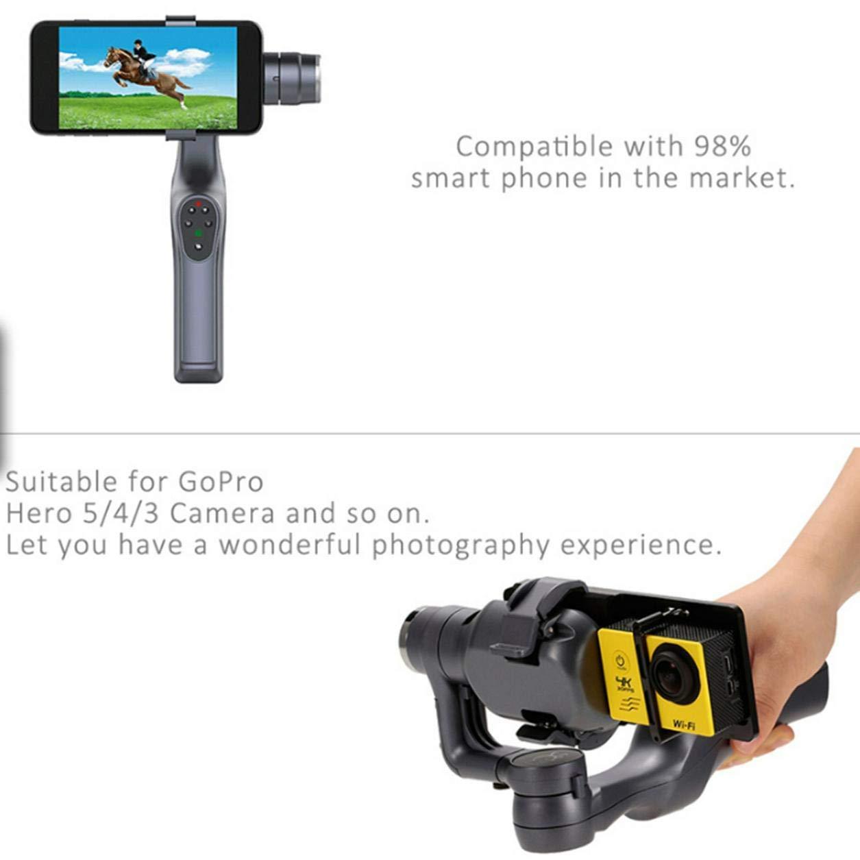 JJ-1S 2-achsen Smartphone Selfie Brushless Hand Gimbal Tray Stabilisator mit Cam Adapter für GOPRO/Xiaomi YI/Sargo Kamera (Farbe: Schwarz)