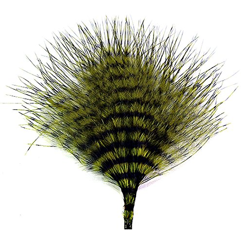 Montana Fly Company Mini Barred Marabou - 3'''' - 5'''' | Olive/Barred Black (Foot Three 566)