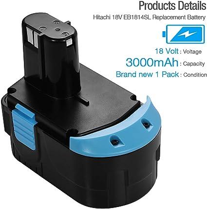 Bater/ía para Hitachi Modelo EB1820 3000mAh NiMH