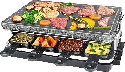 Raclette de Piedra Natural para 8 Personas, Parrilla De Mesa ...