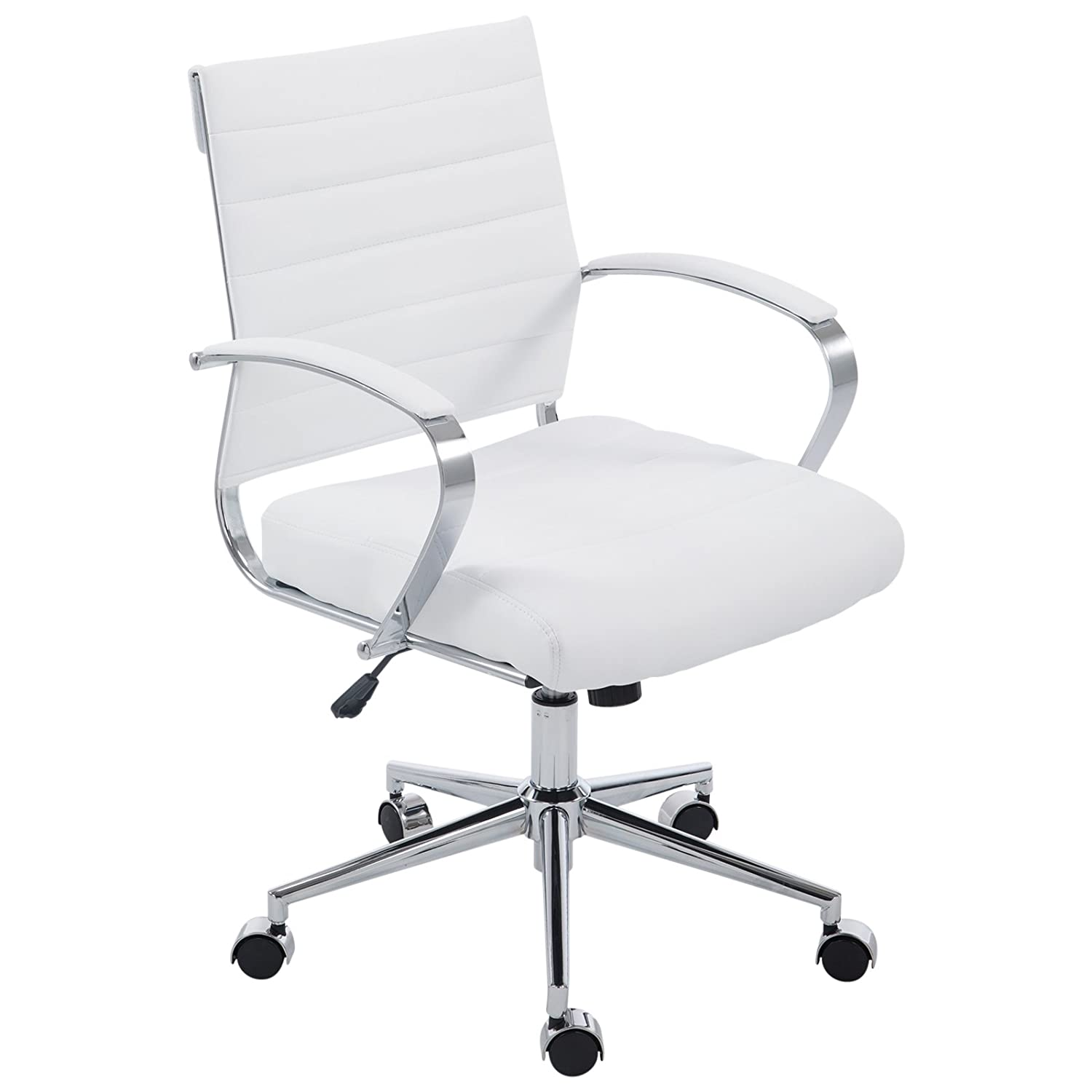 White POLY & BARK  Office Chair, Black