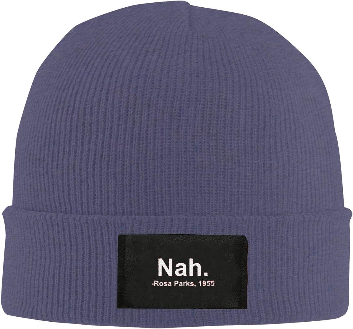 Unisex Stylish Slouch Beanie Hats Black Nah Rosa Park Top Level Beanie Men Women